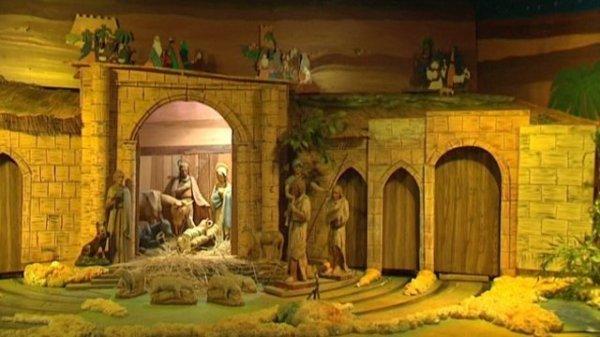 les crèches animées géantes font partie du patrimoine alsacien