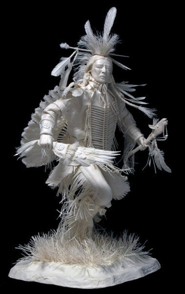 Sculptures de papier ... thème : les Amérindiens !