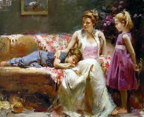 Pino Daeni  peintre  italien
