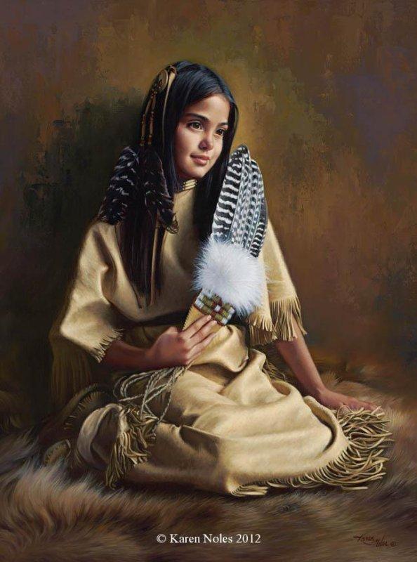 Karen Noles ... peintures amérindiennes !