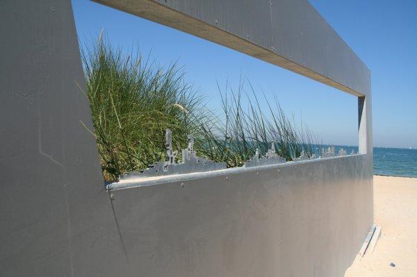 Mémorial au centre Juno Beach à Courseulles-sur-Mer, Calvados