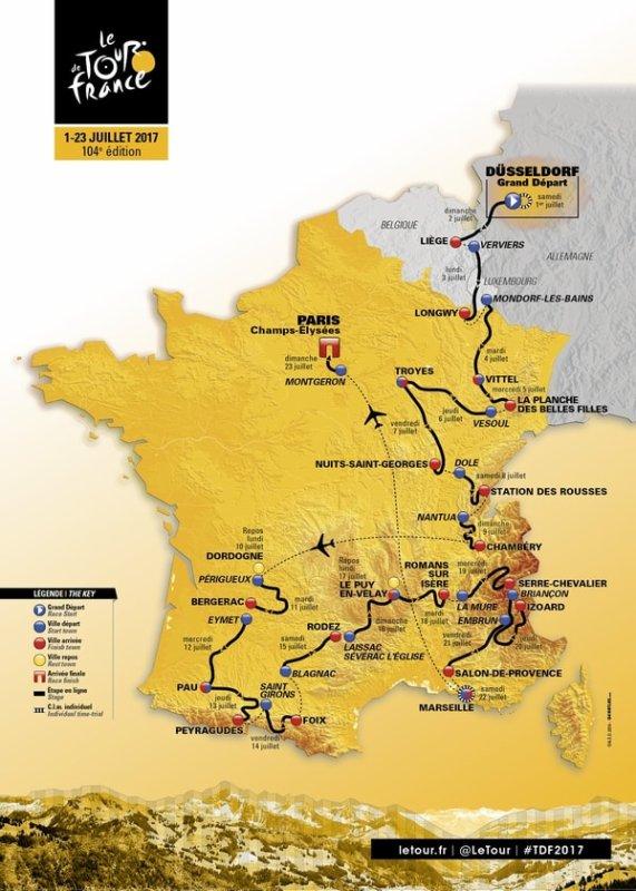 Samedi 1 Juillet ... Départ du Tour de France 2017 !