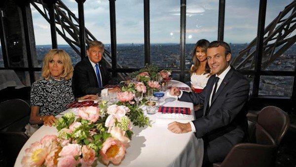 Dîner à la Tour Eiffel le 13 juillet 2017