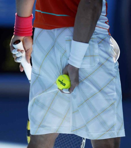 Les  tics systématiques de Rafael Nadal sur le court