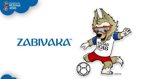 la Mascotte Officielle : ZABIVAKA ! pour  les  fans  de FOOT