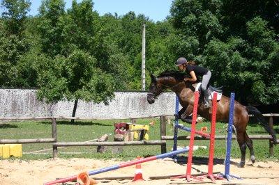 Ma soso et moi au saut d'obstacle