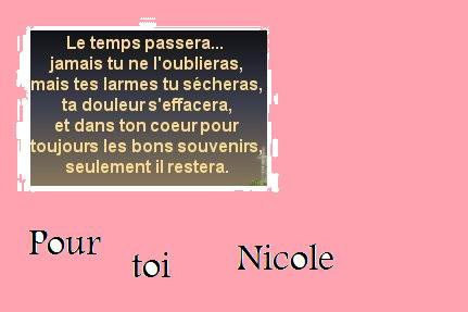 C POUR TOI NICOLE