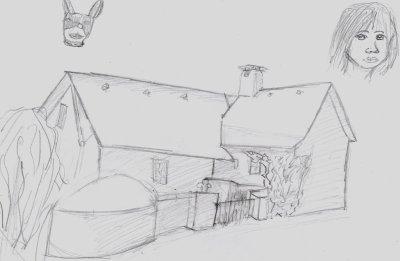 Une petite maison dessin - Dessin de maison en perspective ...