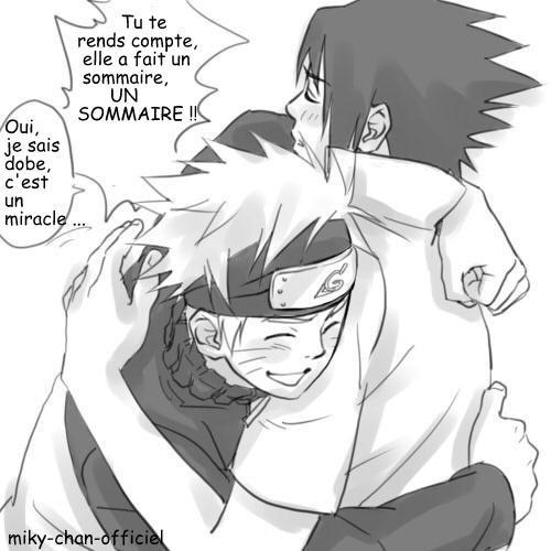 """Un Sommaire ! Sas'ke : OO Toi ?! Faire un sommaire ?! Miky : Oui U.u"""""""