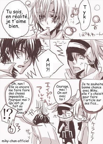 "Les Fics c'est ici ! Shikamaru : galère - -""   Miky : Courage >o<"