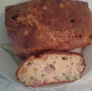 Recette : Cake dès de jambon / petits pois carottes
