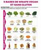 Recette : 5 bases pour un wrap vegan et sans gluten