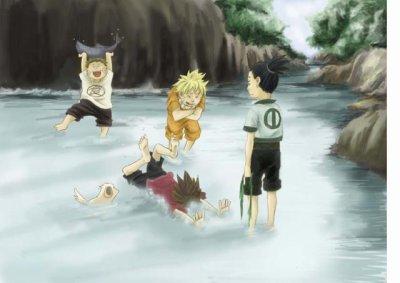 """FICTION Titre: Au sourire de ton âme Résumé: Le combat final prend enfin forme, celui où l'équipe 7 sera réunis pour un ultime sourire, un ultime sanglot. Et Sasuke reste plongé dans sa haine, n'apercevant plus toutes ses mains tendus vers lui. Et Naruto souffre en silence d'avoir perdus face à son frère, de n'avoir réussis à vaincre tout ce dédain. Et Sakura l'aime encore, par amour elle le tuera, elle en est certaine. Et Kakashi sait déjà que les silences glacés ne cachent que l'amertume, que le chagrin de savoir qu'ils n'ont put restés soudé. """"-Que diable t'est-il arrivé Sasuke ? -J'ai grandi."""" Qu'est-il donc advenu de l'équipe 7? Personnages principaux: Naruto, Sasuke, Sakura, Kakashi.  Personnages secondaires: Karin, Gaara, Shikamaru, Itachi, Madara, Obito (la liste reste ouverte) Registres: Dramatique, tragique, lyrique"""