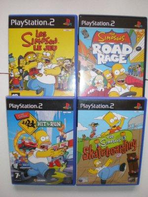 Recapitulatif mes 4 jeux ps2 simpson simpsonmania - Jeux info simpson ...