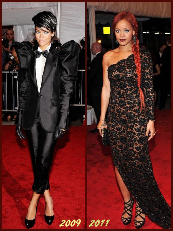 Met Ball : Deux Années, Deux Robes, Deux Styles, Deux Look,.. Votre préférence ?