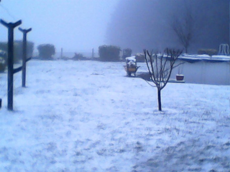 de la neige!!