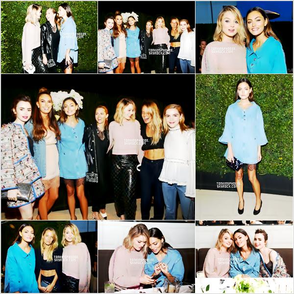 06/04/2017 : Miss étais à l'événement  the celebration of Chanel's Gabrielle Bag en bonne compagnie à LA. La belle brune étais ravissante en cette soirée, accompagné de Lily Collins et Bella Heathcote, et plus tard dans la soirée Paul.W la rejoint.