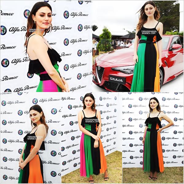 """14/01/2017 : La belle Australienne étais l'événement """"7th Annual Portsea Polo"""" à Melbourne ou elle est l'égérie.  Phoebe étais ravissante ce jour-ci, elle y porter une belle petite robe coloré qui lui va super bien je trouve. Je met donc un top pour la belle."""