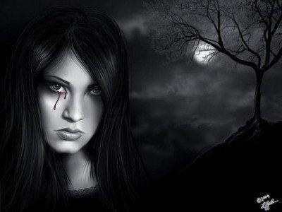 La larme noire signe de mon désespoir.