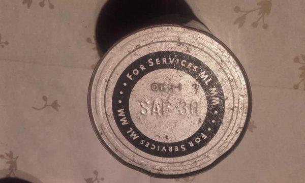 Petit cadeau reçu de mon pote Gerald Cloes  bidon d'huile TRANZPORT  PENNSYlVANIA 1930 un  plus dans la collection