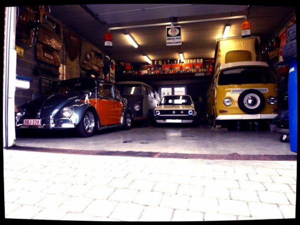 GOLF MK1 1.1 Rabbit LX DE 83  &  combi split tolé 1961 & cox  1969 & bay window wesfalia 1972
