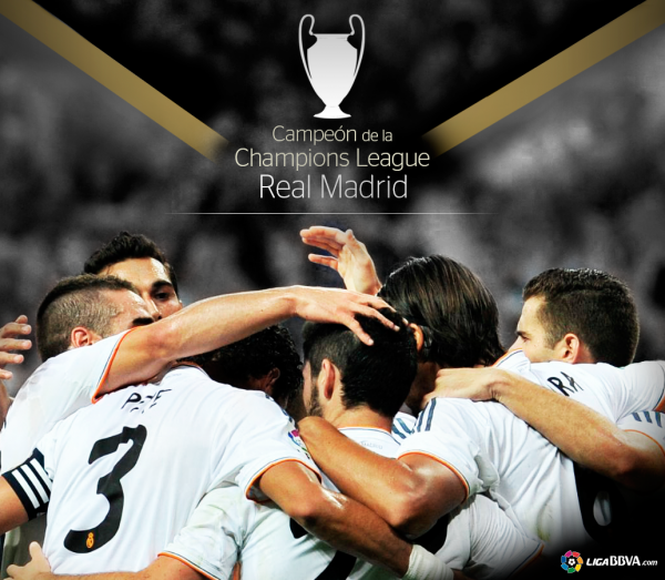 Campéon de la Champion League  REAL MADRID 2013-2014