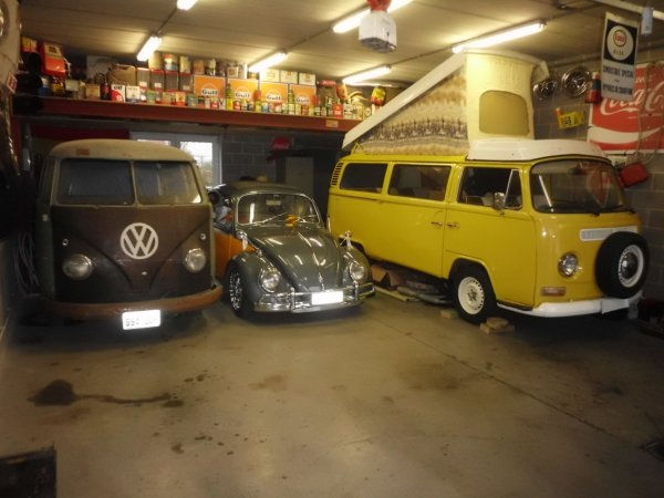 mes 3 vw air-cooled enfin reuni