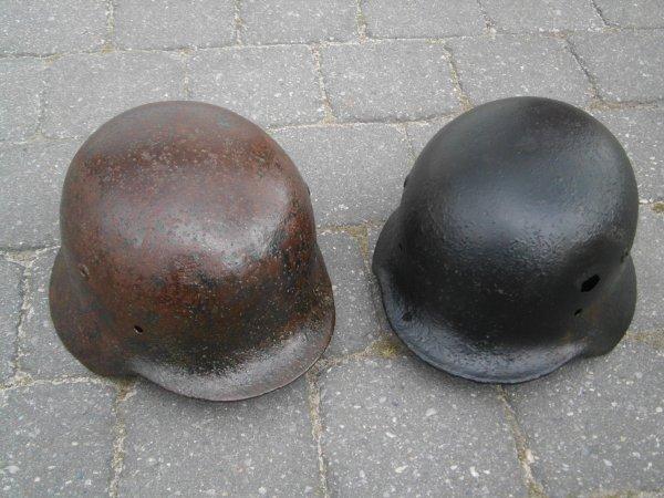 ma collection casque allemand SONT DES  WWll MOD 35 de la SS