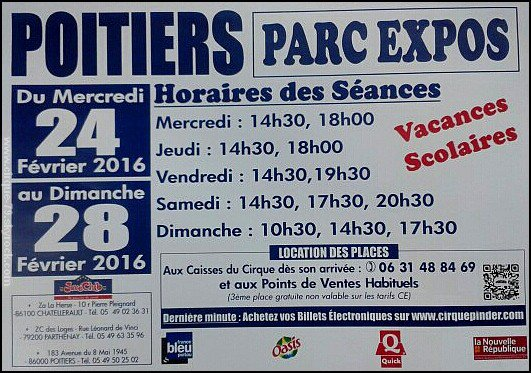 Fin ▪ Cirque Pinder ▪ Poitiers (86)