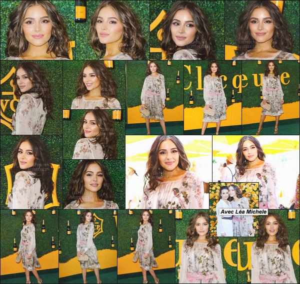 """- 15/10/16 - Olivia à été aperçu posant sur le green-carpet de l'événement 'Veuve Clicquot Polo Classic"""" situé à L.A.Comme d'habitude, Olivia C' était magnifiquement bien habillée, personnellement, j'aime beaucoup ! Que penses-tu de la tenue d'Olivia?-"""