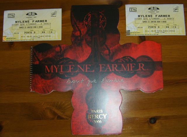 Avant que l'ombre... à Bercy. My first Mylene concert.