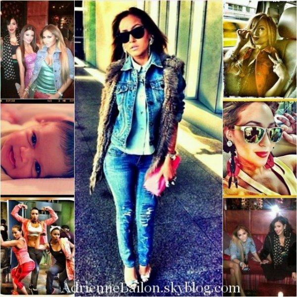 """06/03/12. Adrienne a assister à l'événement """"Wild Rabbit"""" à New York, elle était accompagner de Julissa Bermudez et de Krei Hilson."""