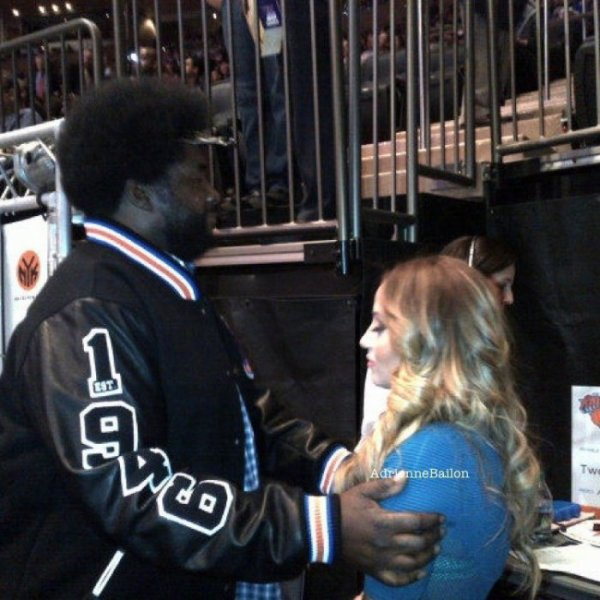 16/04/12. Adrienne a été repérée célébrant l'anniversaire du photographe Lenny S à NYC.