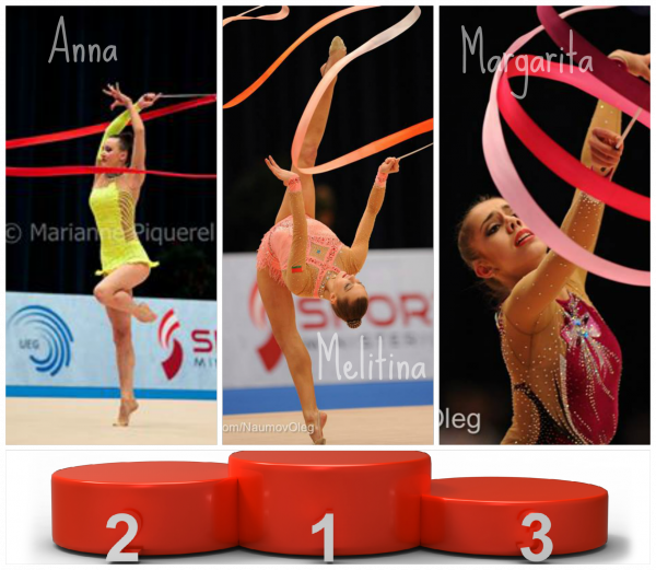 Les podiums des gymnastes par engins