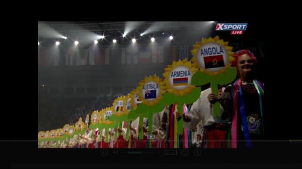 Kiev 2013 - La cérémonie d'ouverture