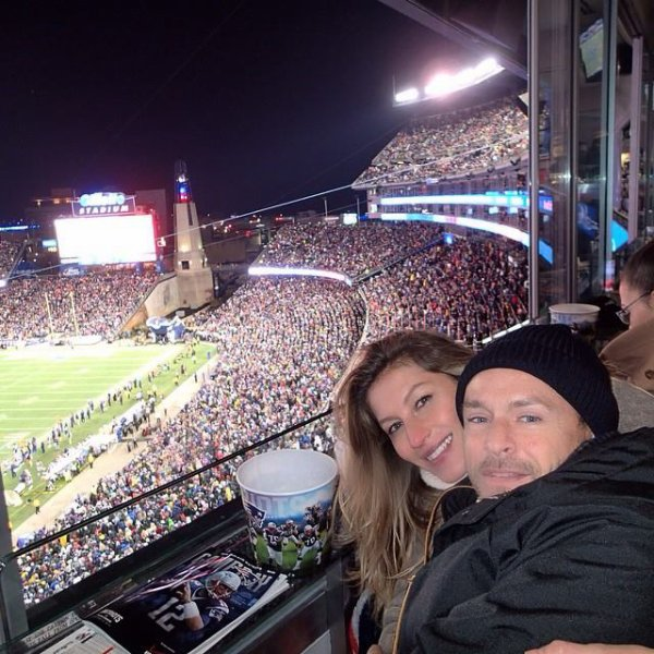 Gisele and Benjamin at Broncos vs Patriots 02/11/14
