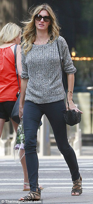 Gisele Out And About In NYC With Friend Harry Josh , August 30, 2015