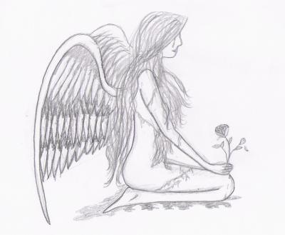 Dessin Ange Triste ange triste - mé ti dessins :p