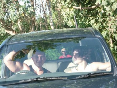 enz et moi dans la voiture