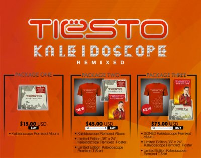 Tiesto Limited Edition Kaléidoscope Bundles