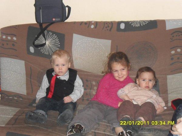 mes 3 amour ma fille lindsay mon fils dorian