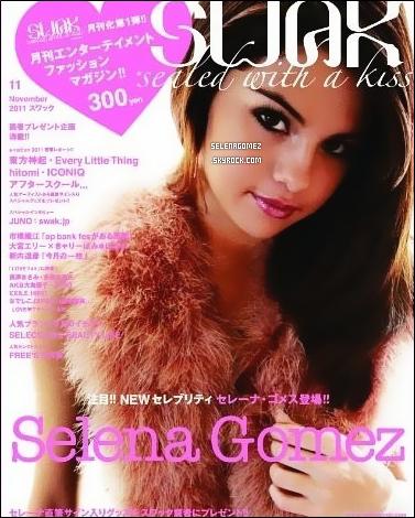 """Sel est dans le numéro de Novembre du magazine Japonais """" SWAK """", avec un nouveau shoot"""