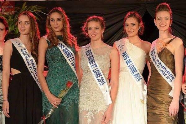 Claire Peltier-Miss Maine-et-Loire 2015 !