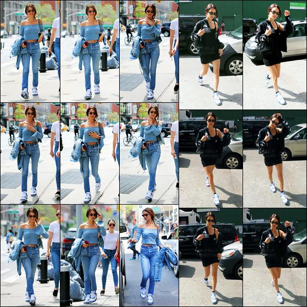 29.04.2017 ─ Bella Hadid a été photographiée, alors, qu'elle quittait son  appartement, dans les rues à New-York.Un peu plus tard, la belle mannequin BH a été photographiée dans les rues de New-York City. Concernant sa tenue, c'est un très beau top pour ma part !