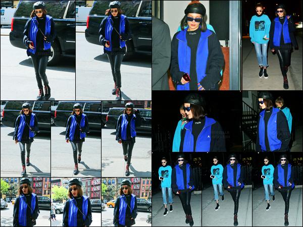 03.05.2017 ─ Bella Hadid a été photographiée alors qu'elle arrivait à l'hôtel « Bowery » étant dans New-York City.La belle mannequin BH a ensuite été photographiée arrivant au restaurant « Noho » à New-York. Concernant sa tenue, je suis pas trop fan, c'est un bof !