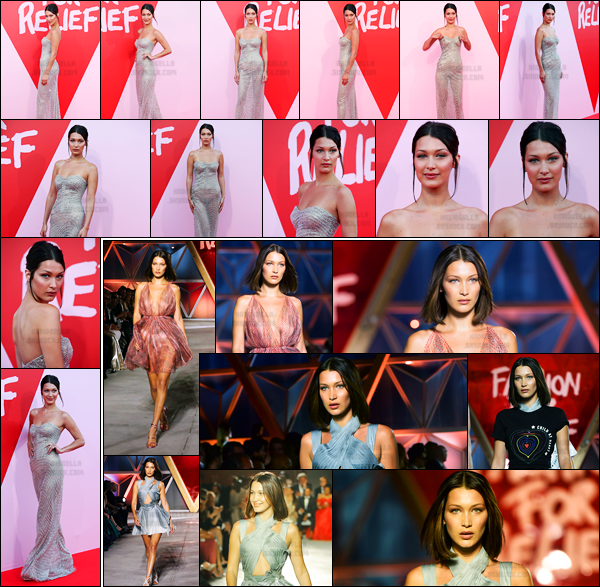 21.05.2017 ─ Bella Hadid était présente lors de l'événement de «Fashion for Relief» étant dans Cannes en France.La belle B. était également présente au défilé puisqu'elle a défilé accompagnée de son amie, Kendall Jenner. Concernant sa tenue, c'est un top pour moi.