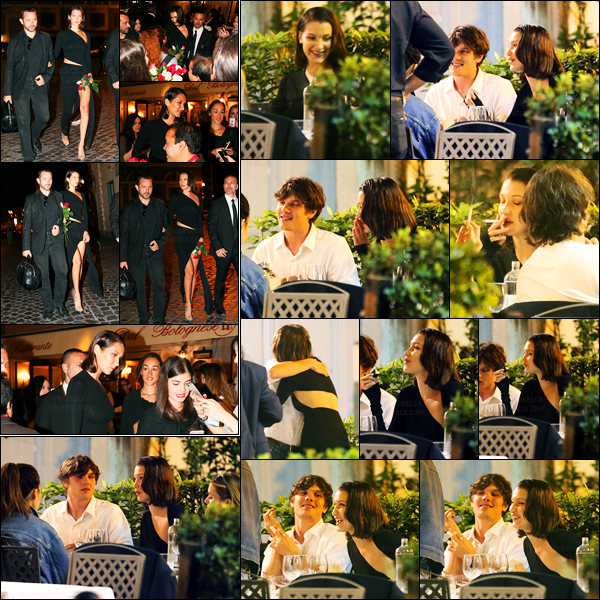 23.05.2017 ─ Bella Hadid a été photographiée alors qu'elle arrivait au restaurant « Dal Bolognese » étant à Rome.La belle mannequin a également était vue à l'intérieur du restaurant, en compagnie de ses amis. Concernant sa tenue, c'est un beau top de ma part !
