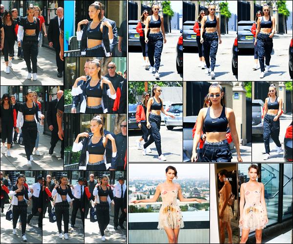 03.06.2017 ─ Bella Hadid a été photographiée alors qu'elle  arrivait au the Nike Cortez event, étant à Los Angeles.La belle mannequin B. a été photographiée dans les rues dans Los Angeles... Concernant sa tenue, c'est un petit top de ma part, c'est sportif, simple !