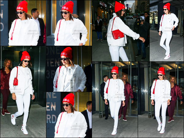 08.06.2017 ─ Bella Hadid a été photographiée alors qu'elle quittait son appartement, étant, dans Manhattan, NY.La belle brunette a pris un envol pour la france, destination Paris, pour Nike Cortez ! Concernant sa  tenue, c'est tout simple, mais c'est un top de ma part