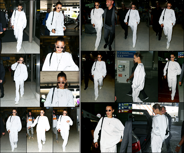 21.06.2017 ─ Bella Hadid a été photographiée, alors, qu'elle arrivait à l'aéroport de LAX, étant, dans Los Angeles.C'est le lendemain que la belle B. a été photographiée arrivant à l'aéroport Charles De Gaulle. Elle se rend donc à la fashion week... Sa tenue est un top !
